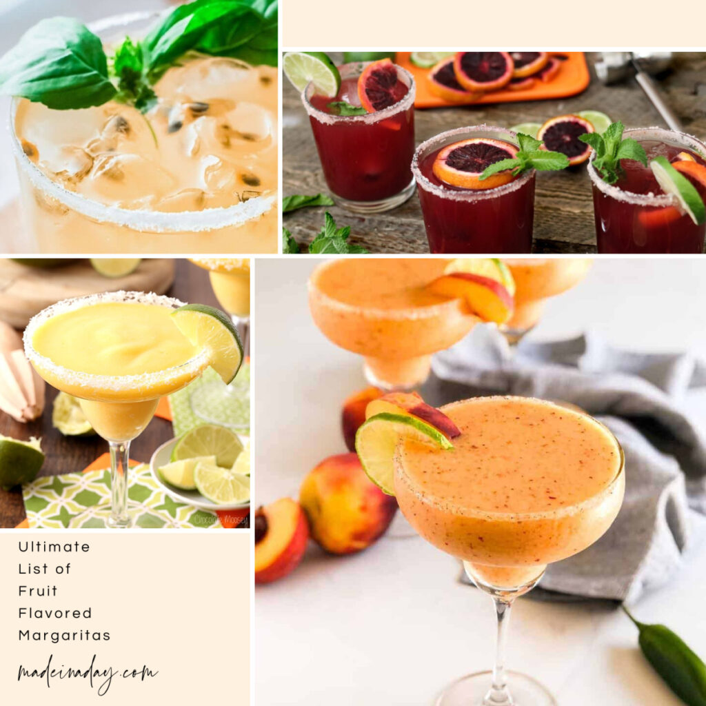 Ultimate Fruit Flavored Margaritas List