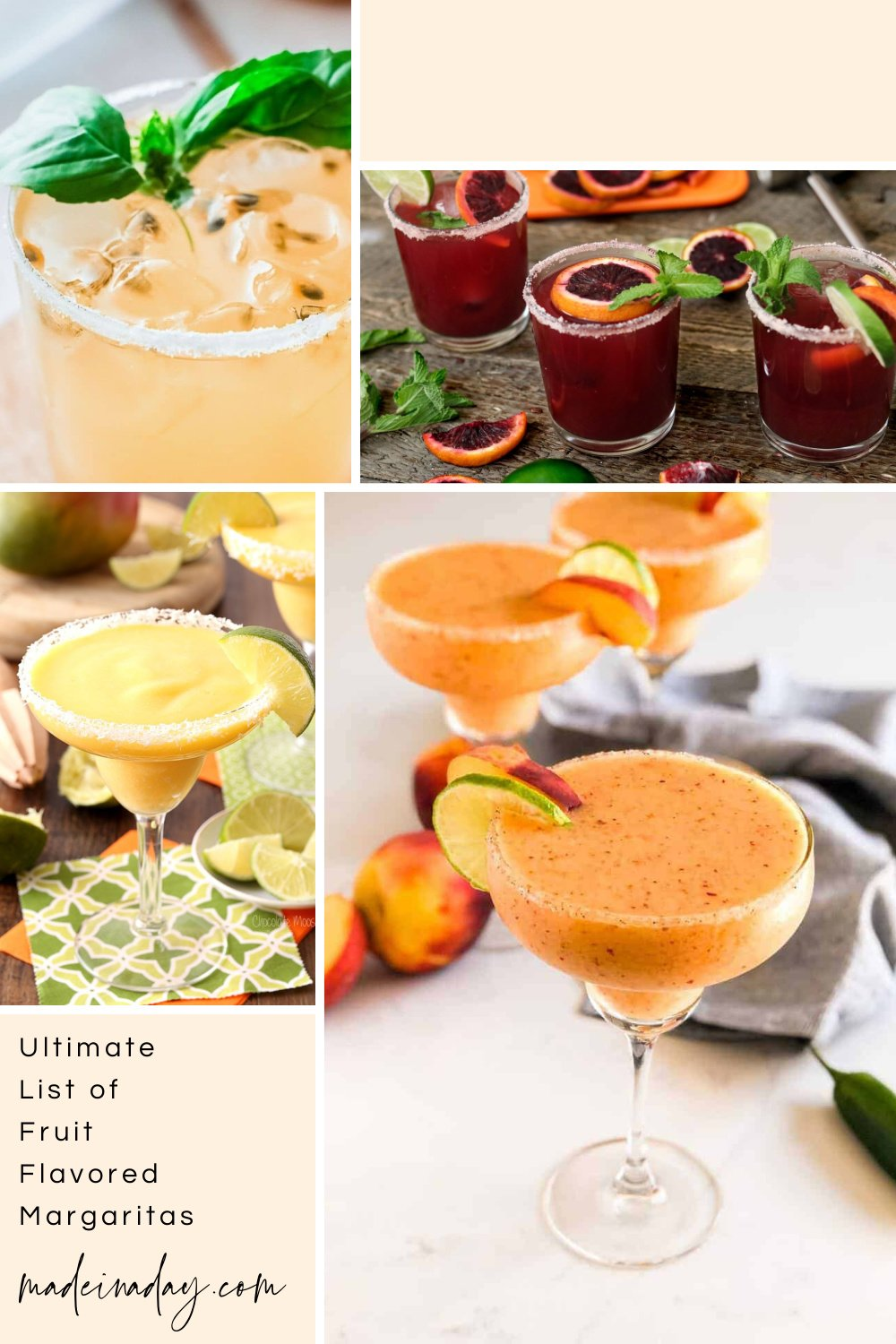 Ultimate Fruit Flavored Margaritas List