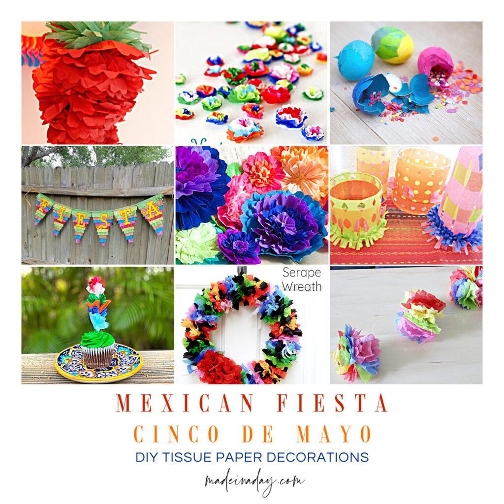 DIY Tissue Paper Cinco De Mayo Decorations