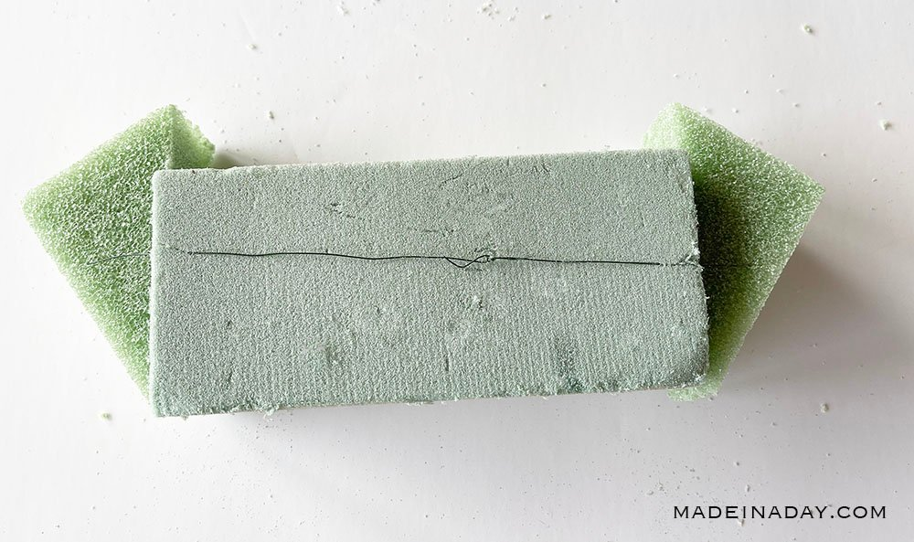 tie foam with wire