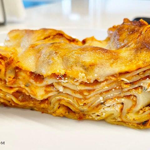 Restaurant Style Lasagna with No Boil Noodles