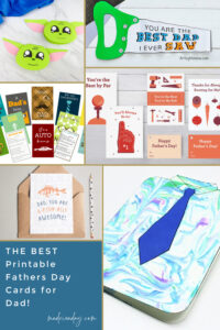 14 Printable Fathers Day Cards for Dad