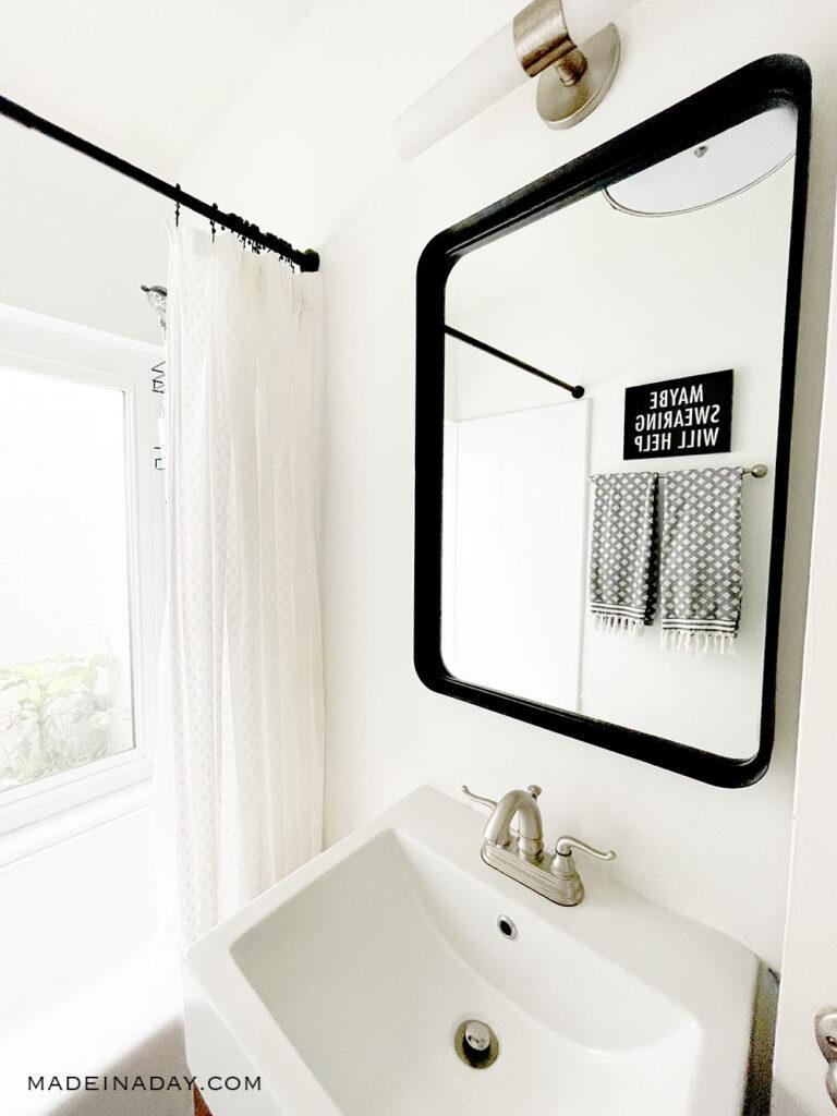 white bathroom  with atrium