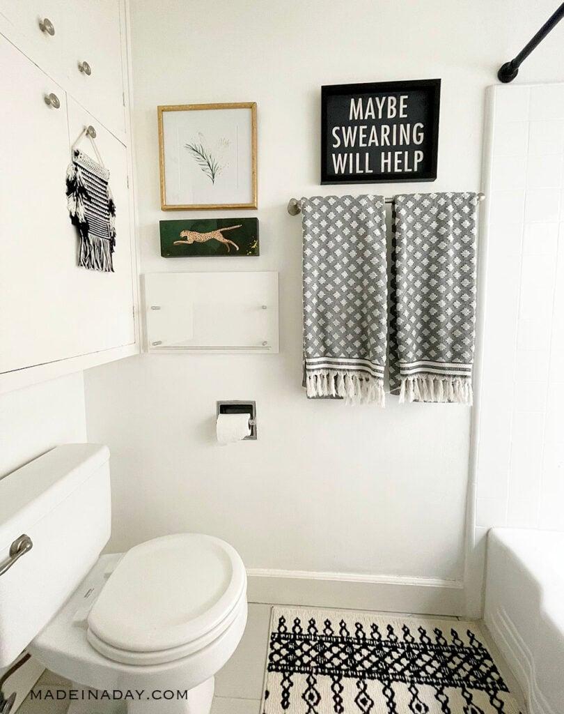 maybe swearing will help bathroom sign