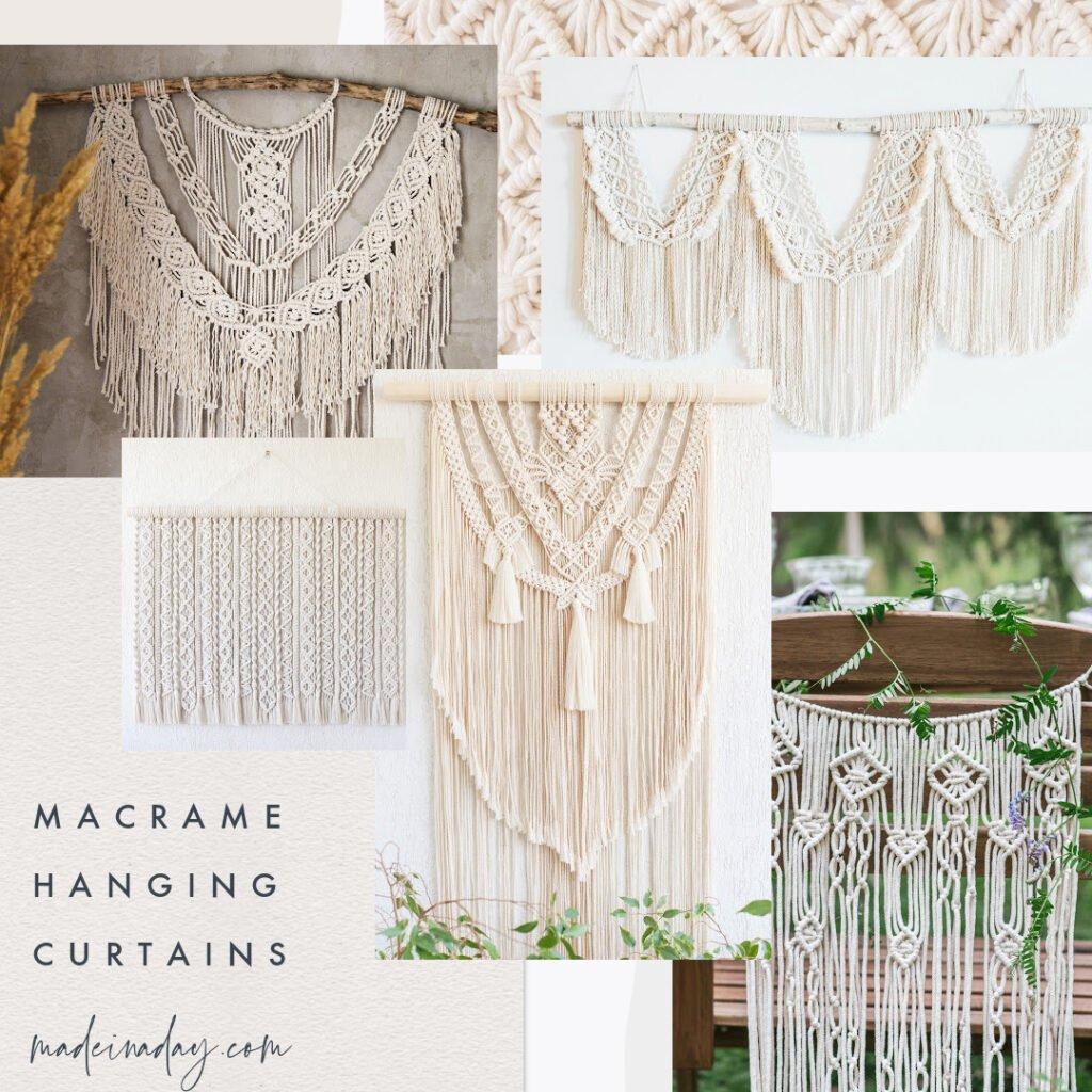 macrame  hanging curtains
