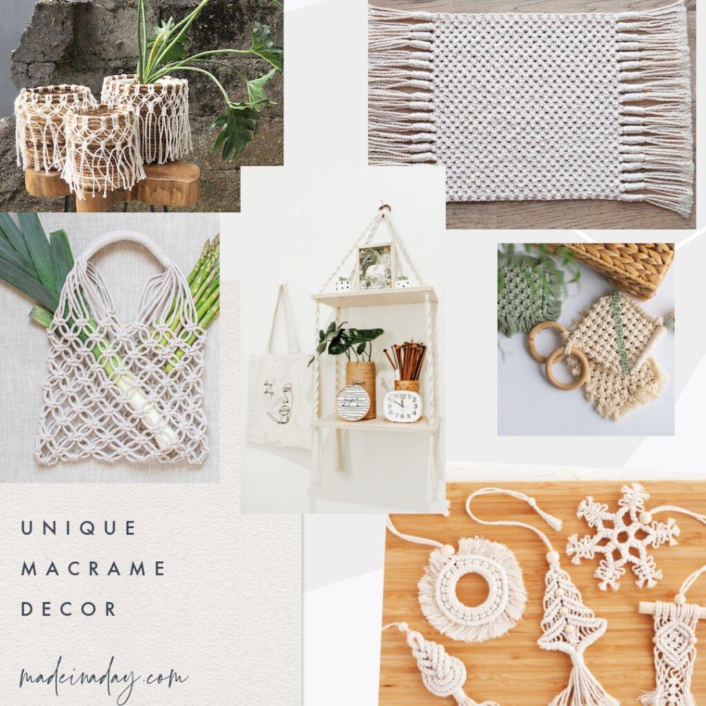 macrame home items