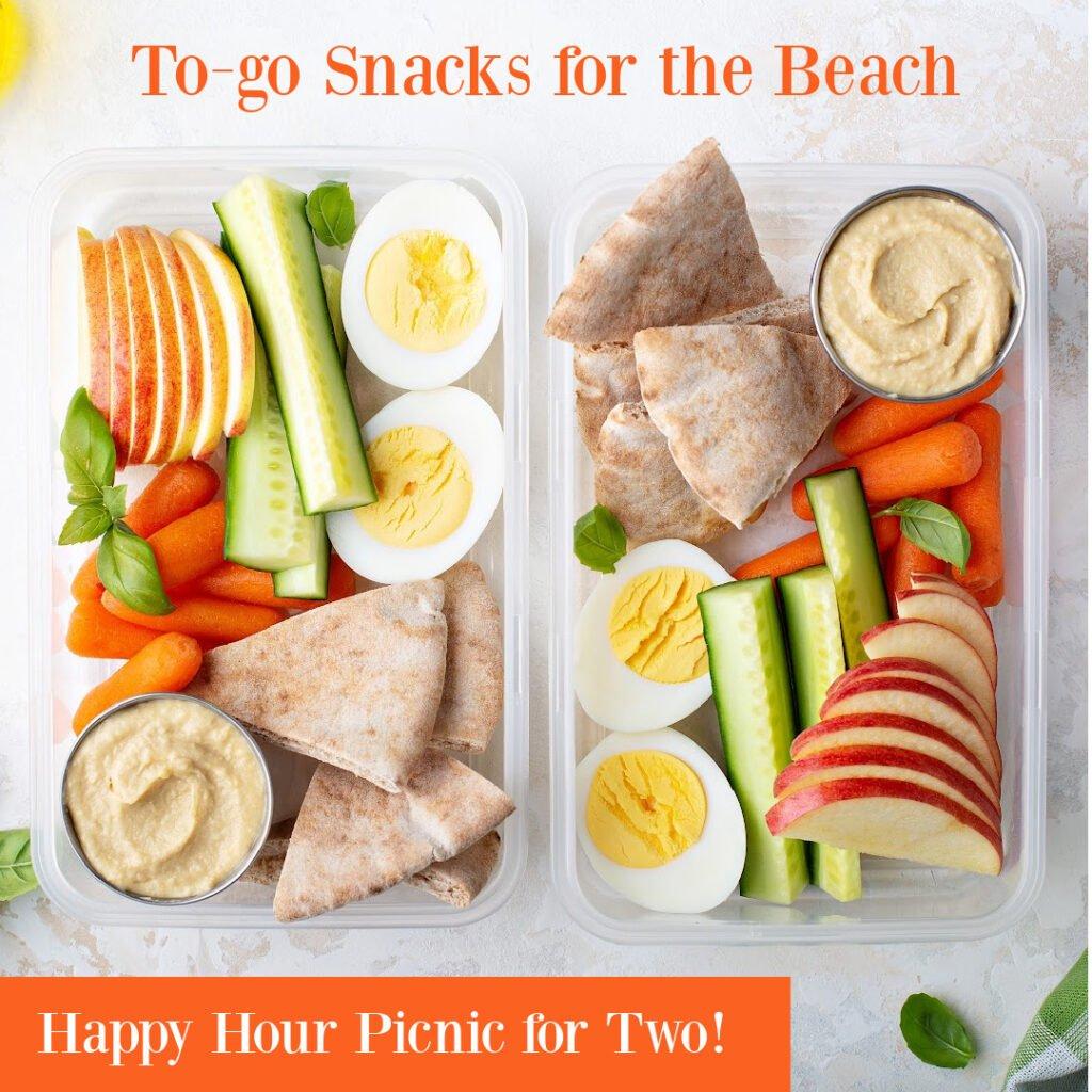 bento box beach snacks