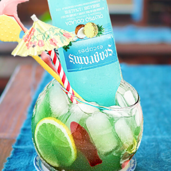 Seagrams Blue Calypso Fishbowl Cocktail Recipe