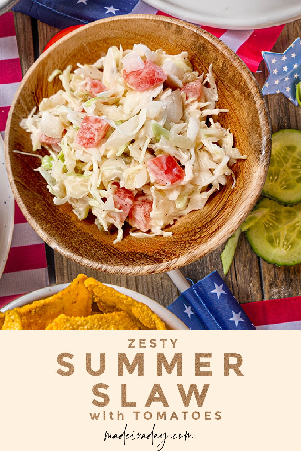 Summer Slaw with Tomatoes   The Perfect Zesty Side Dish