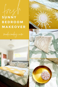 Summer Green Gold and White Bedroom Refresh
