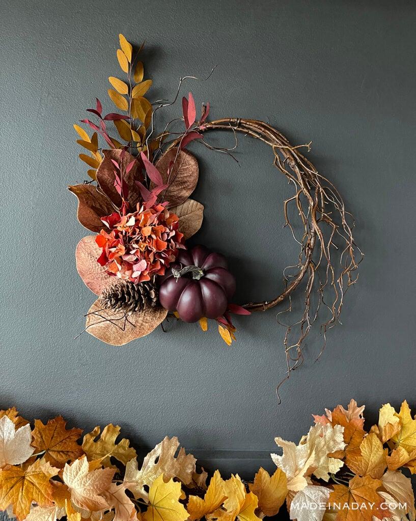 Fall Purple pumpkin wreath