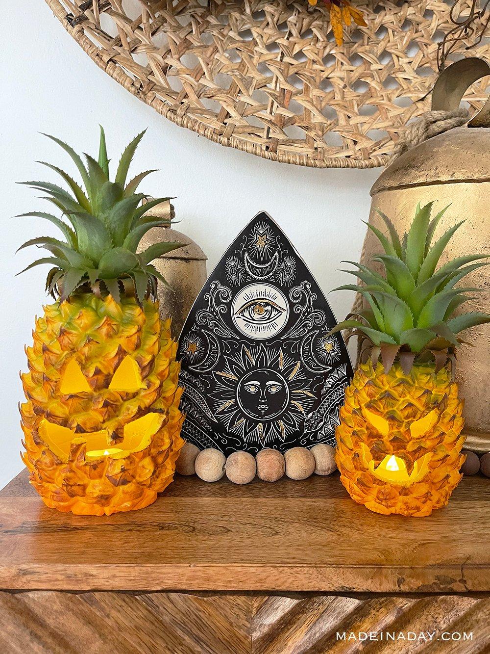 How to make a Plastic Pineapple Jack O Lantern