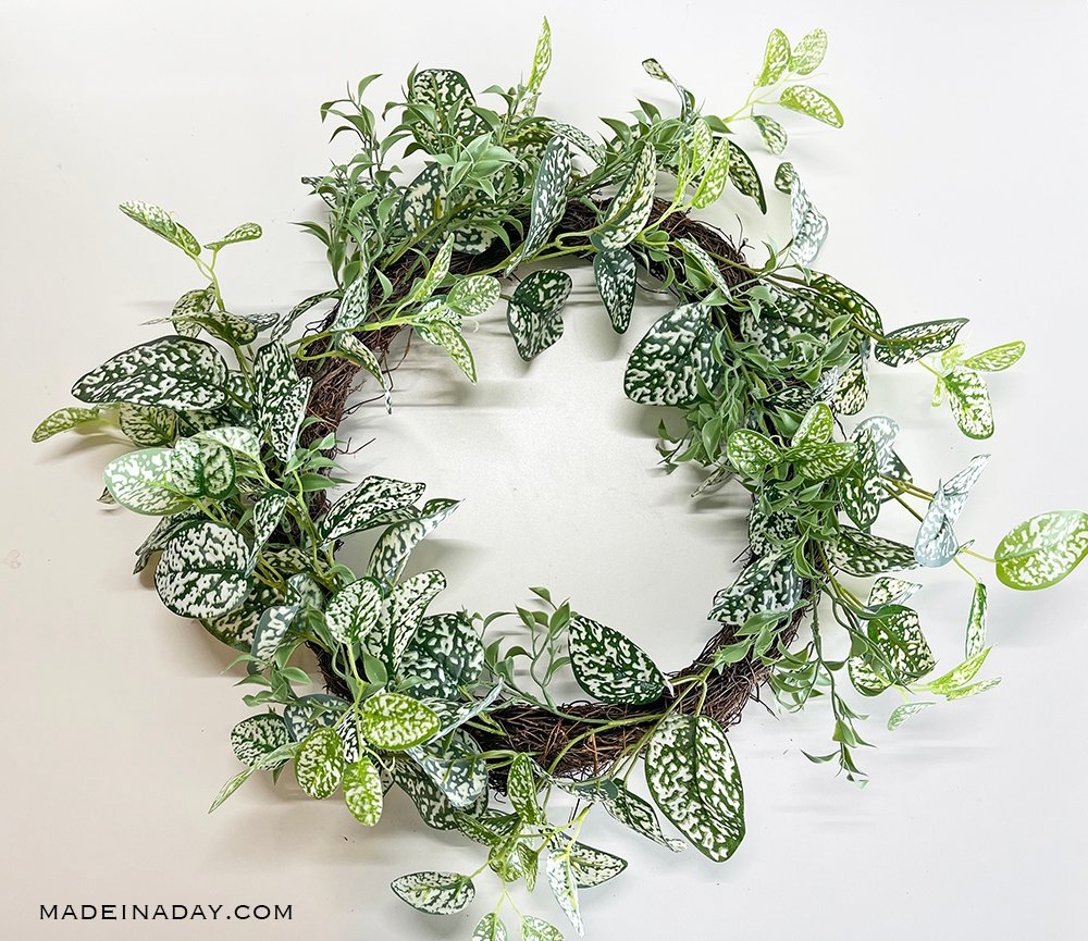 spring foliage wreath base
