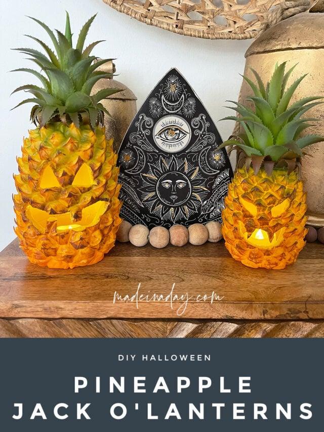 DIY Pineapple Jack O'Lanterns