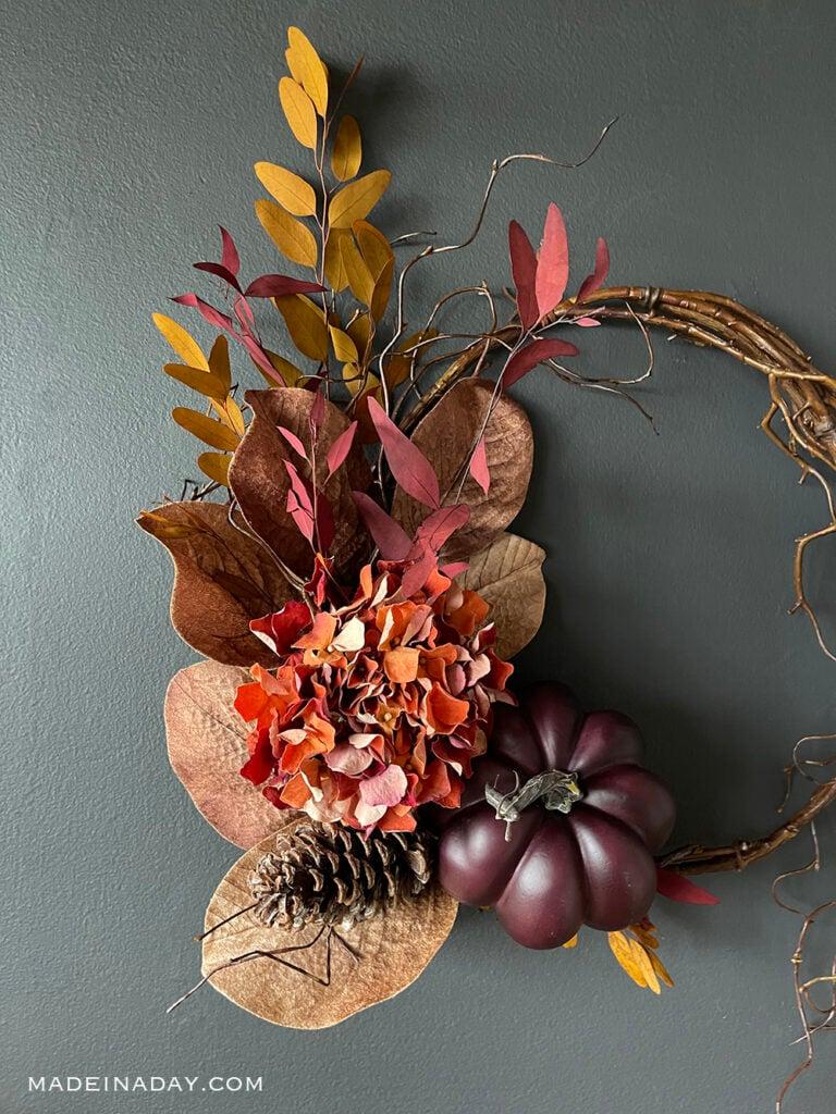 Rich colors fall wreath