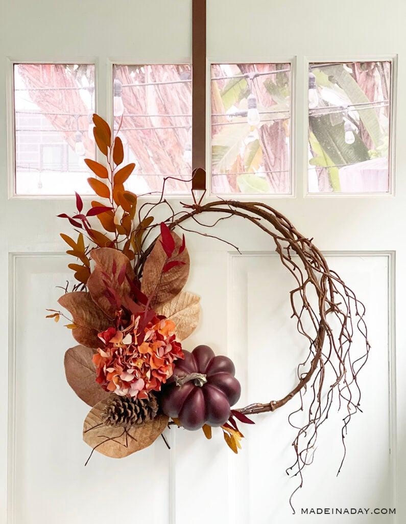 magnolia pumpkin wreath