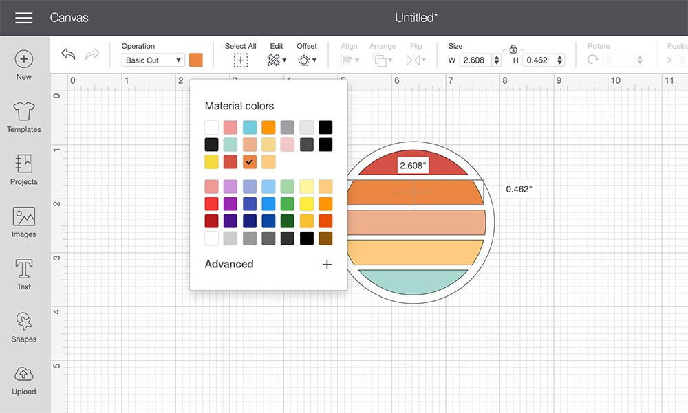how to change the color of an image in cricut design space