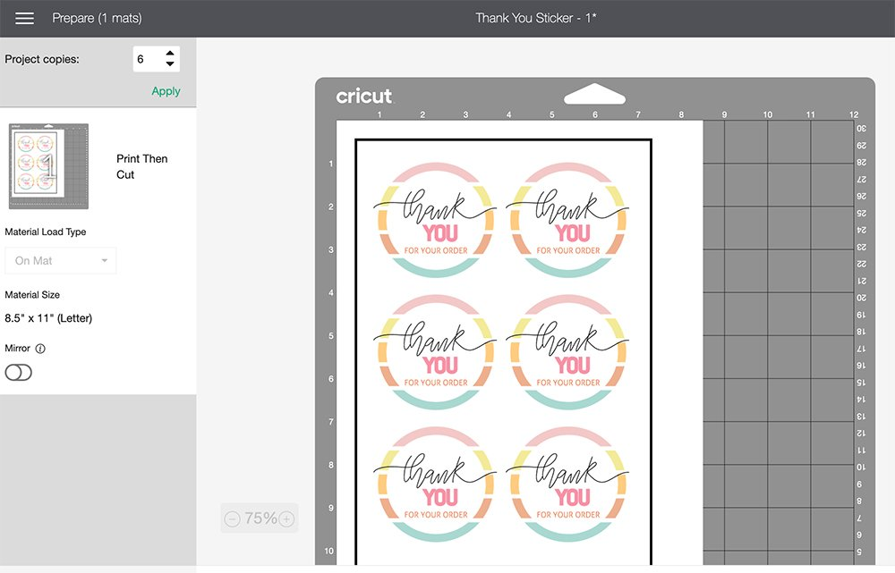 how to see what is cutting in cricut