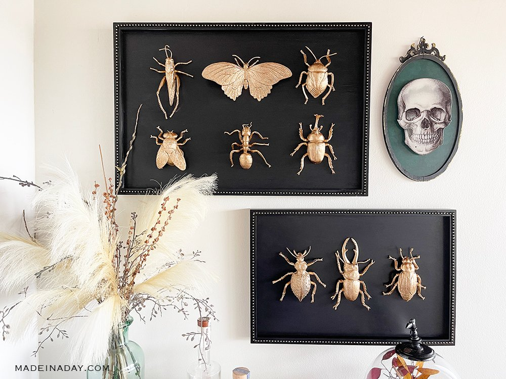 Gold Leaf Insect Art