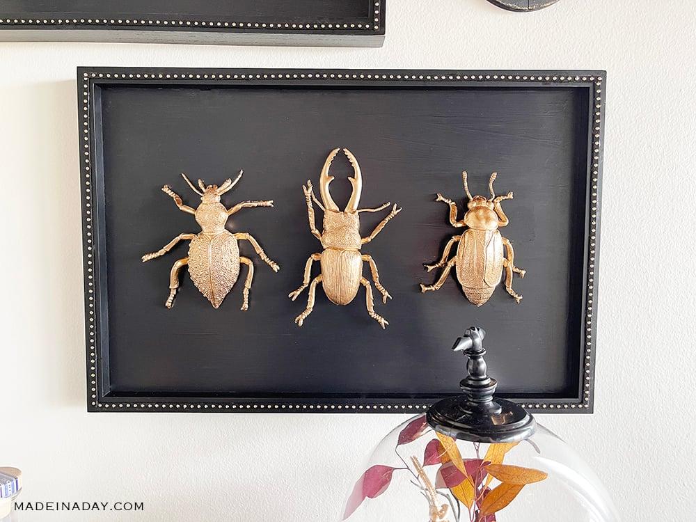 Gilded bug Halloween art