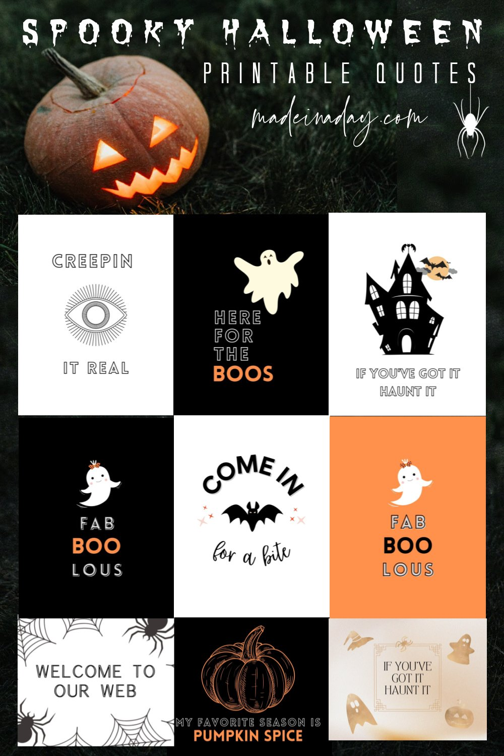 Free Printable Halloween Quotes, Signs & Sayings